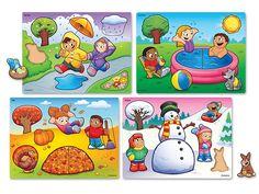 Seasons and Weather Puzzle Set at Lakeshore Learning Weather For Kids, Preschool Weather, Preschool Activities, Seasons Chart, Four Seasons, Teacher Magazine, Orquideas Cymbidium, Lakeshore Learning, Weather Seasons