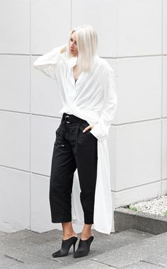 Wear a LWD over pants for a superbly cool, unexpected look