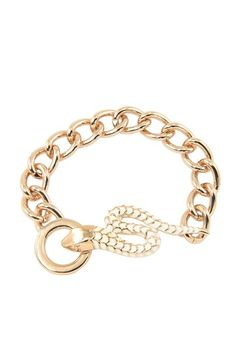 Wildfox Couture Jewelry, Gold Snake Bracelet
