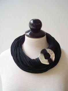 Black necklace, black statement necklace, black bib necklace, black choker, necklace scarf, chunky necklaces fashion jewelry mother necklace