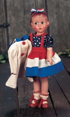 All Original Composition Effanbee Patriotic School Girl, 1935 - Theriault's Antique Doll Auctions