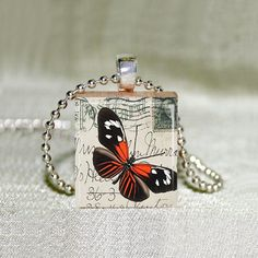 Scrabble Jewelry  Butterfly 12  Choose by MaDGreenCreations