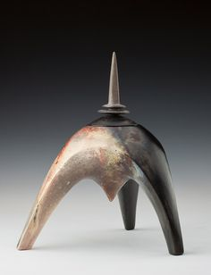 James Whiting - Pit-fired vessel with spire