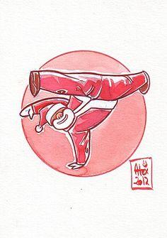 Encres : Capoeira de l'avent - 178 [ #capoeira #ink #painting ]