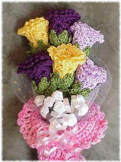 free garden bouque pattern crochet | Laura's Left Hook
