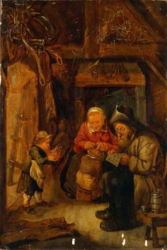 Peasant Family | artist unknown | Holland | 17th century | oil on panel | The Hermitage