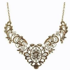 This beautiful Bronze Metal Necklace has the look of Lace. Adjustable and only $7.50 with Free Shipping!