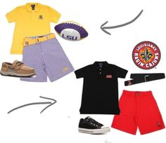 ULL and LSU boys apparel...so cute and great quality! #JV Clothiers
