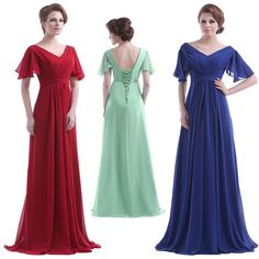 3810 Austen Abendkleid !!! viele schöne Farben !!! Gr.36 - 56 NEU