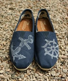 Nautical Custom TOMS shoes by themattbutler on Etsy. LOVE THESE.
