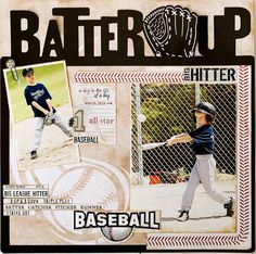 Creative Imaginations Batter Up Baseball Layout Sample