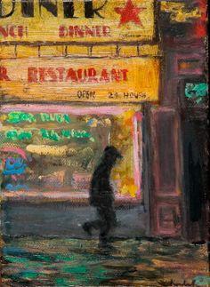 HENRY KONDRACKI 24 HOUR DELI oil on canvas, signed 18 x 13cm Diners, Deli, Oil On Canvas, Portraits, Painting, Inspiration, Art, Restaurants, Biblical Inspiration