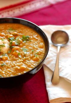 Lentil Soup with Chickpeas and Quinoa