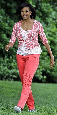 Michelle Obama beat Kate Middleton by 3 years with the coral jeans. ; )