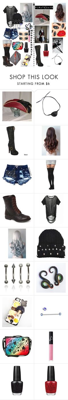 """Hetalia (OC)"" by paranormal ❤ liked on Polyvore featuring Masquerade, Ellie, Black Poppy, Hot Topic, NARS Cosmetics and OPI"