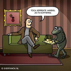 Maar zeg dan toch iets! #cartoon - Evert Kwok