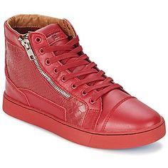 DEVIL Rot - sale bis zu -10% - Dieser hohe #Sneaker von der Marke Sneakers Parisiennes by Sixth Ju ist sowohl komfortabel als auch modisch. #Schuheherren,  #Sneakerherren, #Schuhe