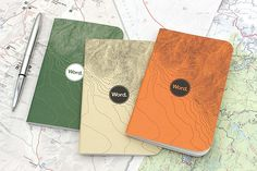 Word Notebooks - Green Terrain - x - Pack of 3 Word Notebooks, Journals, Stationery Companies, Jet Pens, Lined Page, Made In America, Rustic Style, Packing, Words