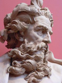 Bust of Neptune by Lambert-Sigisbert Adam, 1725, Los Angeles County Museum of Art, Los Angeles, California. (Photo by mharrsch)
