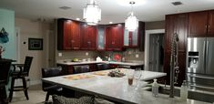 Cherry Wood Kitchens, Kitchen Cabinets, Table, Furniture, Home Decor, Decoration Home, Room Decor, Cabinets, Tables