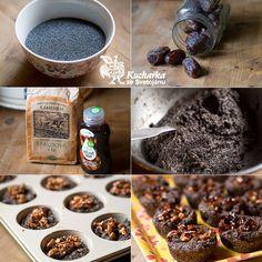 Kuchařka ze Svatojánu: MAKOVÉ MUFFINY Cereal, Oatmeal, Cupcakes, Breakfast, Type 1, Poppy, Facebook, Photos, Food Food