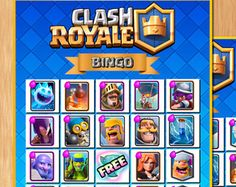 Clash Royale & Clash of Clans Supercell Inspired Printable Clash Royale, Clash Of Clans, Printable, Party Ideas, Birthday, Inspiration, Cards, Party, Places