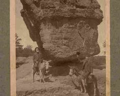 """"""" The Forty Niner Prospector's """" vintage studio photograph picturing two old Prospector sort of men seated on their Burros, by a ticklish boulder. Photograph is mouted on Hard Backboard with the actual photograph measuring 5 x 8 inches, with an overall measurement of 9 7/8 x 6 7/8 inches and in Excellent condition. Karodens Vintage Post Cards at www.bonanza.com/booths/karoden"""