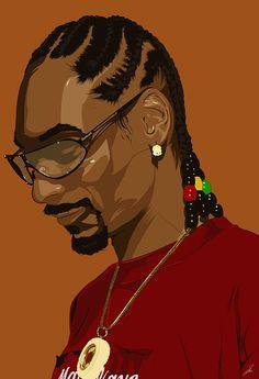 Snoop Dogg on Behance Arte Do Hip Hop, Hip Hop Art, Illustration Vector, Vector Art, Tupac Art, Portrait Vector, Arte Dope, Trill Art, Rapper Art