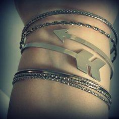 Arrow bracelet  tribal cuff  chevron jewelry  by UntamedMenagerie, $30.00