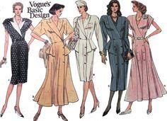 1980s Vogue Basic Design Peplum dress Vogue by retroactivefuture, $11.00