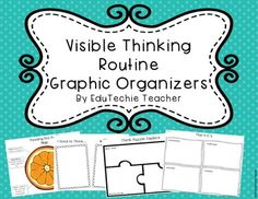 Visible Thinking Routine Graphic Organizers-These 20 graphic organizers are a great way to help your students use visible thinking routines with ease in your classroom and are great to display your students' thinking. If you are using Cultures of Thinking in your classroom, these graphic organizers will work great for you! #visiblethinking #CoT
