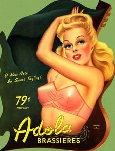 How cool! A 79 cent bra from the 50s!! Vintage bra ads