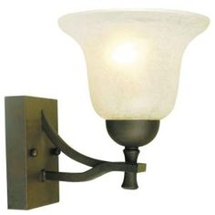 Design House Ironwood 1-Light Statuary Bronze Wall Mount Sconce-509281 at The Home Depot