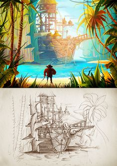 drawing art for a fantasy game