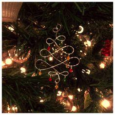 Handmade wire christmas tree ornament!