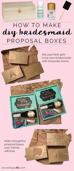Pop the question to your friends with cute, easy-to-make DIY bridesmaid proposal boxes!