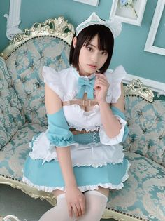Maid Cosplay, Cosplay Girls, Japanese Beauty, Japanese Girl, Cute Asian Girls, Cute Girls, Spring Spa, Blue Eggs, Maid Outfit