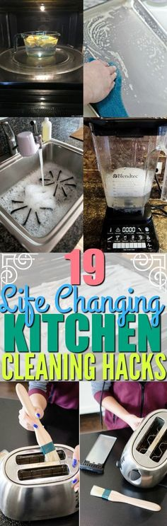 19 Genius Kitchen Cleaning Hacks That Will Make Your Kitchen Sparkling Clean - Refrigerator - Trending Refrigerator for sales. - The absolute BEST kitchen cleaning hacks and tips for the stove refrigerator and other appliances in your kitchen. Household Cleaning Tips, Cleaning Recipes, House Cleaning Tips, Deep Cleaning, Cleaning Hacks, Cleaning Supplies, Diy Hacks, Household Cleaners, Cleaning Schedules