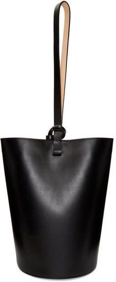 Building Block Black Basket Bag