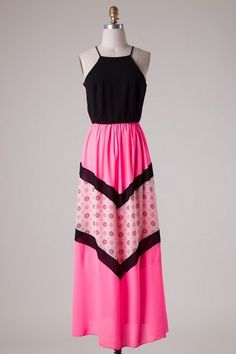 Nella Maxi Dress - Nobella Grace Boutique! We love the bright cheerful pink of this maxi and the keyhole back! #nobellagrace #maxidress #flattering #keyholeback