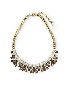 Sabine Glass and Stone Statement Necklace | Piperlime