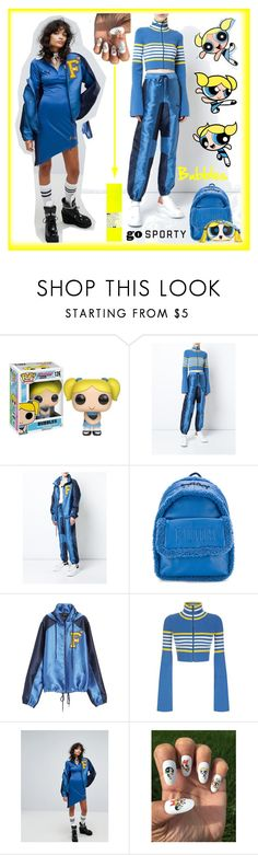 """""""Powerpuff Girl Bubbles"""" by yours-styling-best-friend ❤ liked on Polyvore featuring Funko and Puma"""