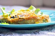 Cheesy Zucchini & Pepper Casserole