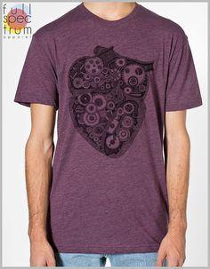 Anatomical Steampunk Heart Gears T shirt Vintage Unisex Men's Women's - American Apparel Tee Tshirt  Full Spectrum Apparel Science Anatomy by FullSpectrumApparel on Etsy https://www.etsy.com/listing/237468046/anatomical-steampunk-heart-gears-t-shirt