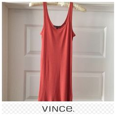 Vince favorite tank Vince favorite tank in salmon. Size: small. In great condition. Has a perfect fit and layerability. Flattering scooped neckline and a soft cotton-modal blend makes it thinly ribbed with a slight stretch Vince Tops Tank Tops