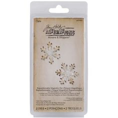 Sizzix Movers and Shapers Magnetic Dies By Tim Holtz 2 per pack - Mini Snowflakes from Create and Craft USA