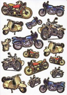 Ultra Gloss Sticker Bogen, Motorrad
