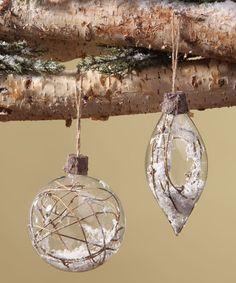 Love this Woodland Frost Ornament Set on #zulily! #zulilyfinds