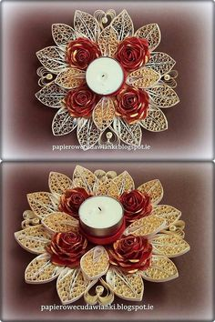 Quilled tea light holders