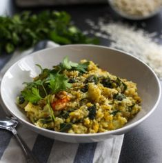 This ayurvedic kitchari will keep any cold away during fall and winter!